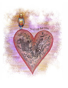 Red Heart Prints - Waiting For You Print by Samantha Lockwood