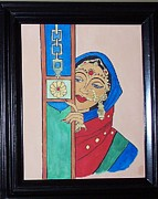Jewelry Greeting Cards Framed Prints - Waiting II Framed Print by Anu Darbha