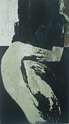 Printmaking Paintings - waiting II by Nesli Sisli