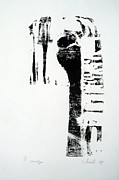 Printmaking Originals - waiting III by Nesli Sisli