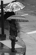 China Town Photo Metal Prints - Waiting In The Rain Metal Print by Aidan Moran