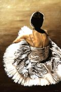 Ballet Paintings - Waiting in the Wings by Richard Young