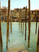 Vaporetto Posters - Waiting in Venice Poster by Julie Palencia
