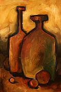 Jugs Painting Prints - Waiting Print by Michael Lang