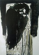 Printmaking Paintings - Waiting by Nesli Sisli