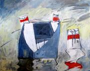 Sailing Boat Originals - WAITING ON the DOCK of the BAY by Charlie Spear