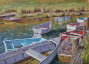 Chatham Painting Originals - Waiting On The Tide by Barbara Hageman