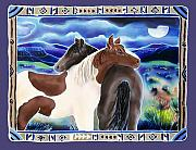 Wild Horses Painting Prints - Waiting Out the Storm Print by Harriet Peck Taylor