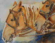 Warm Colors Painting Prints - Waiting Patiently Print by Gretchen Bjornson