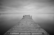 Horizon Over Water Metal Prints - Waiting Rain Metal Print by Cesar March