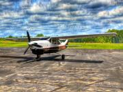 Single-engine Photo Prints - Waiting to Fly Print by Thomas Young