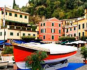 Portofino Italy Prints - Waiting to Launch Print by Carl Jackson