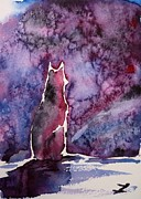 Husky Art Prints - Waiting Print by Zaira Dzhaubaeva