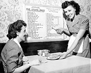Menu Framed Prints - Waitress, 1944 Framed Print by Everett