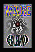 Visionary Artist Digital Art Framed Prints - Wake blend product design Framed Print by George  Page