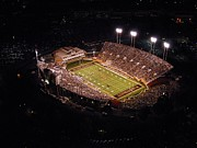 Aerial Framed Prints - Wake Forest Aerial View of BB and T Field Framed Print by John Grogan