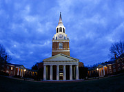 Columns Art - Wake Forest Wait Chapel Lit Up by Wake Forest University