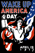 Political  Mixed Media Posters - Wake Up America Day Poster by War Is Hell Store