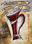 Brew Painting Framed Prints - Wake Up Call by MADART Framed Print by Megan Duncanson