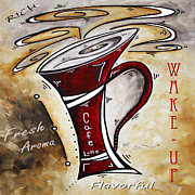 Whimsy Posters - Wake Up Call Original Painting MADART Poster by Megan Duncanson