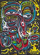 Haring Framed Prints - Waking From A Dream Framed Print by Robert Wolverton Jr
