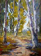 Pallet Knife Art - Wakkerstroom Gums by Yvonne Ankerman