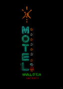 Motel Art Posters - Walden Motel Las Vegas Poster by David Lee Thompson