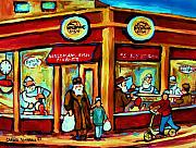 Montreal Memories Art - Waldmans In Montreal by Carole Spandau
