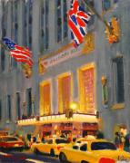 Night Sculpture Posters - Waldorf-Astoria Poster by Vladimir Kozma