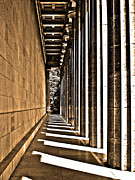 Architektur Metal Prints - Walhalla Colonnade ... Metal Print by Juergen Weiss