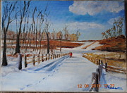 Fences Originals - Walk in the Snow by Bob Herbert