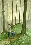 Father Paintings - Walk In The Woods by Sean Seal