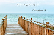 Walk Of Faith With Verse Print by Reflections by Brynne Photography