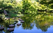 Stepping Stones Prints - Walk On Water Print by Lynnette Johns