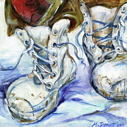 Bunny Paintings - Walk Softly and Wear a Big Boot by Margaret Donat