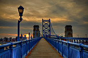 Philadelphia Photo Metal Prints - Walk with Me Metal Print by Evelina Kremsdorf