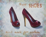 Party Paintings - Walkin shoes by Nicola Hill