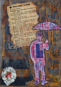 Song Mixed Media Originals - Walking alone by Kent Mullens