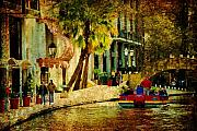 Riverwalk Prints - Walking along the riverwalk Print by Iris Greenwell