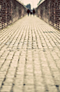 Pavement Prints - Walking Away Print by Meirion Matthias