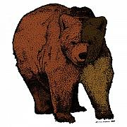 Forrest Drawings - Walking Bear - Color by Karl Addison