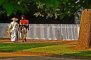 Colonial Art - Walking Couple - Williamsburg by Panos Trivoulides