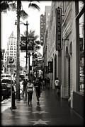 Walking In La Print by Ricky Barnard