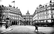 European Union Prints - Walking in Paris Print by John Rizzuto