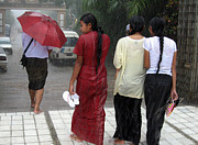 Burma Posters - Walking in the rain Poster by RicardMN Photography