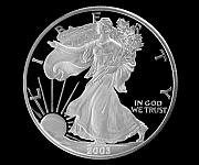 Coin Prints - Walking Liberty Proof Silver Dollar Print by Randy Steele