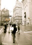 Walking New York Print by Michael Peychich