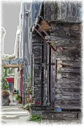 Old Towns Digital Art Prints - Walking Old Town Print by Lori  Pagliaro