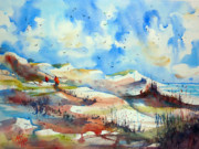 France Mixed Media Originals - Walking on the dunes by Andre MEHU