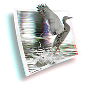 Brian Wallace Prints - Walking On Water - Use Red-Cyan 3D glasses Print by Brian Wallace